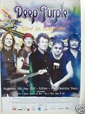 DEEP PURPLE 2002 SINGAPORE CONCERT TOUR POSTER - CLASSIC GUITAR ROCK