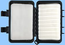 Black, Water Resistant Fly or Jig Box with Ripple & Flat Foam Inserts & Latches