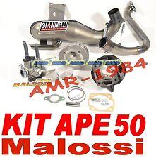 ELABORAZIONE  APE 50 KIT MALOSSI 115 cc + MARMITTA Giannelli + CARBURATORE 19
