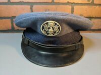 Vintage Blue Military U.S. Airforce Officer Dress Uniform Hat Cap Bancroft badge