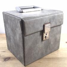 """Vintage 7"""" singles Grey vinyl carry case - Retro Record Box"""