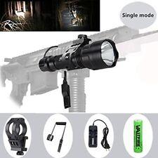 150 yard Single Mode Tactical Flashlight 500 Lumen White LED light with Offset M