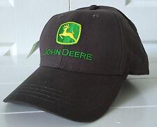 John Deere Gray All Fabric Hat Cap w Vintag Logo