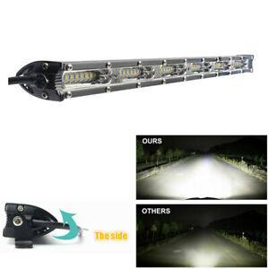 "270W 20"" Car Slim LED Work Light Bar Single Row Spot&Flood Beam 27000LM DC10-30V"