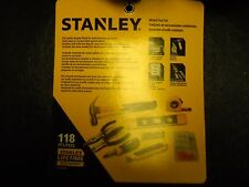 Stanley Mixed Hand Tool Set 118 Piece Hammer Level Tape Measure Knife Pliers NEW