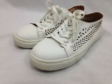 5969ccb94 Sam Edelman Raina Sneakers Shoes Womens 8 White Leather Lining Lace Up Flats