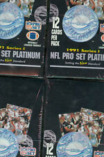 4x 1991 Pro Set Platinum Football card Wax Pack Box  Collection ProSet Series 1