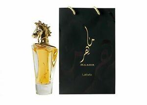 Lattafa Maahir Oud Aroma Eau De Perfume 100ml 3.4FL.OZ