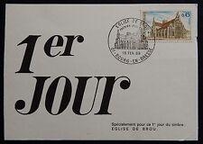 3H* Carte Premier Jour FDC 1969 n°1582 EGLISE DE BROU