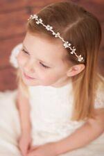 White or Pink Pearl Hair Band Headband Flower Girl Communion Bridesmaid