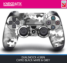 KNR6404 CAMO BLACK WHITE GREY DUALSHOCK 4 PREMIUM SKIN DS4 STICKER