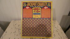 Vintage Harlich'S Jackpot Charley Bar Gameboard Punch Board, Punchboard Man Cave