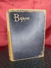 1886 The Poetical Works of LORD BYRON Antique HB Book - Suttaby & Co - Gold edge