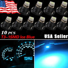 10x Ice Blue T4/T4.2 Neo Wedge 1-SMD LED Cluster Instrument Dashboard Light Bulb