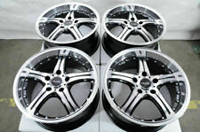"18"" Wheels Mercedes Audi A3 A4 Q3 E320 E500 VW GTI Jetta Cooper Black Rims 5x112"