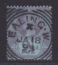 GB. QV. 1887. SG 201, 2 1/2d purple & blue. Superb, Ealing squared circle.