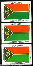 Vanuatu Lot Of Three Complete Unexploded Booklets Stamps Are Mint Nh