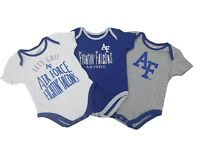 Air Force Falcons Official NCAA Baby Infant Size 3 Piece Creeper Bodysuit Set