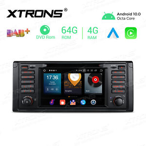"""7"""" Android 10 Car Radio Stereo Octa Core DVD GPS Head Unit for BMW 5 Series E39"""