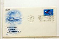 United Nations First Flight 1° Flight 1974 New York Cover F69