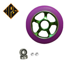 1 pair pro scooter wheels metal core green ninja blade100mm 88a abec 11 bearings