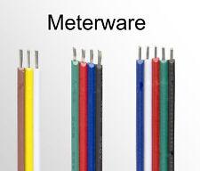 1m 3 adrig CCT 4 polig RGB 5 Adern RGBW Verlängerung Anschluss Kabel LED Strips