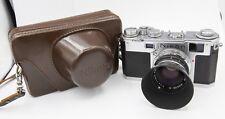 Nikon S2 35mm Film Rangefinder Camera w/ Nikkor-S.C 5cm F1.4 Lens & Case - EP