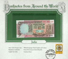 World Banknotes India 10 Rupees 1984 P 81f Sign Manmohan Singh Unc pre. 69P