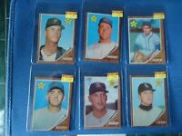 1962 topps baseball rookie lot 6 total good condition