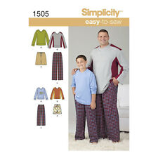 Simplicity 1505 Husky Boys' & Big & Tall Men's Tops & Trousers Pattern | S -5XL