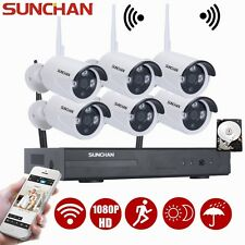 8CH WIFI NVR 6 2MP 1080P Outdoor Network Wireless Security Camera System 1TB HDD