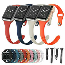 Silicone Slim Sport Loop WristBand Strap For Apple Watch iWatch Series 6 5 4 3 2