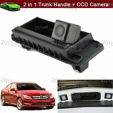 Trunk Handle +CCD Rear View Parking Camera For Mercedes Benz W204 W212 C200 C180