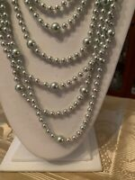 """NWOT  Carolee gray   pearl  strand  multi  strand  34""""   necklace T93"""