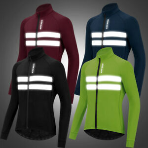 Cycling Jacket Thermal Fleece Winter Windproof Windstopper Long Sleeve Bike Coat