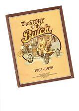 BUICK History Brochure:1903-1978: Model B,1963 RIVIERA,3.8L TURBO,Flint Plant,