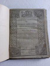 Très Rare Almanach Champenois ou Feuille Villageoise du  la Marne 1810