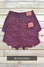 Shorts, bermuda e salopette da donna alte rossi in cotone