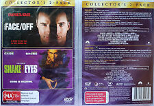 FACE OFF / SNAKE EYES Collector's 2 MOVIE PACK oz seller R4 PAL