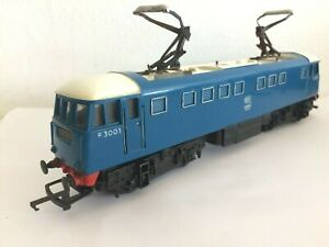 TRIANG R753 BO-BO AL1 TWIN PANTOGRAPH E3001 BLUE / WHITE ELECTRIC GC HORNBY