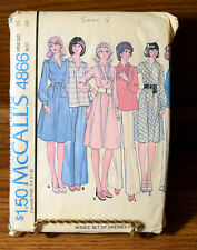 McCalls 4866 Miss Dress or Tops Size 16 Bust 38 Sewing Pattern