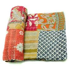 patchwork Kantha Quilt Handmade Cotton Bedspread Couch Cover Blanket Throw PB34