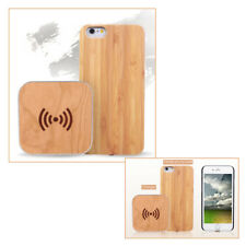 Qi Induction Battery Charger Pad Dock + Protection Case iPhone 6 Plus / Wood