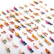 Lotto 50 pezzi di persone in piedi verniciate, scala 1:100 ~ H0