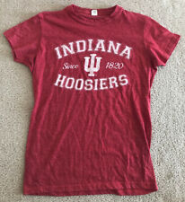 Indiana Hoosiers Women's T-Shirt Medium M IU Since 1820 Red Tultex EUC RARE