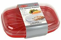 Easy Cook Pendeford Microwave Fish Steamer Red  [6262]