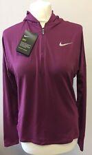 Womens Nike Dri-fit Hooded Long Sleeve Top-Purple-size S BNWT Reduced !!