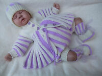 PAPER KNITTING PATTERN TO MAKE *JAZZIE ROCK* PLEAT  COAT SET FOR BABY/REBORN