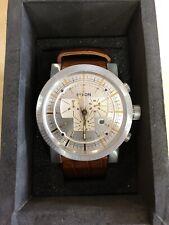Nixon Mens Magnacon Leather II Watch (Brown Gator)