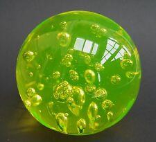 Anna gelbes Uranglas / Vaseline glass  Briefbeschwerer-Paperweight